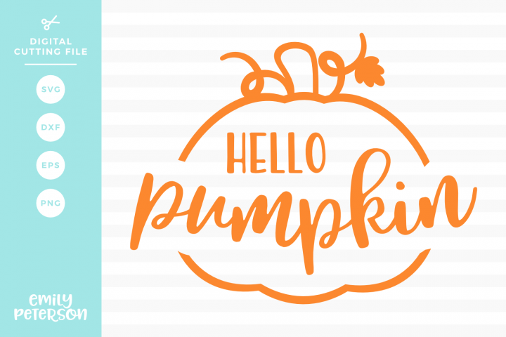 Hello Pumpkin SVG DXF EPS PNG