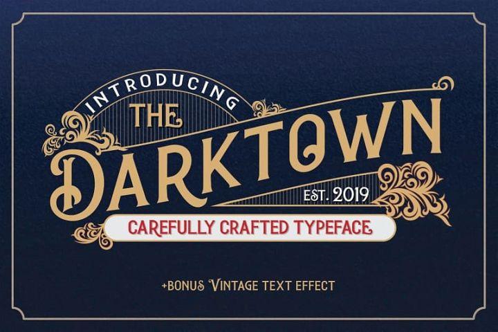 Darktown Vintage Font