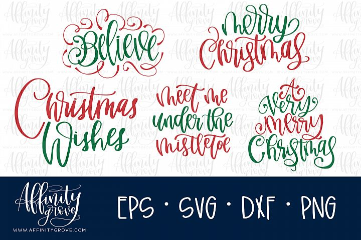 Hand lettered Christmas SVG Bundle!