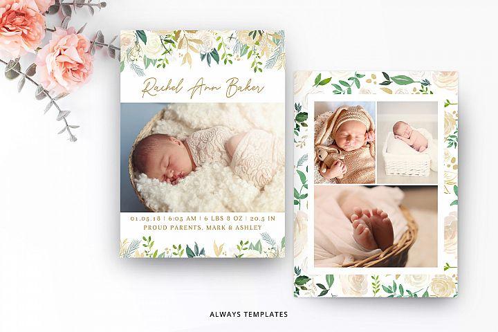 Birth Announcement Template BA010