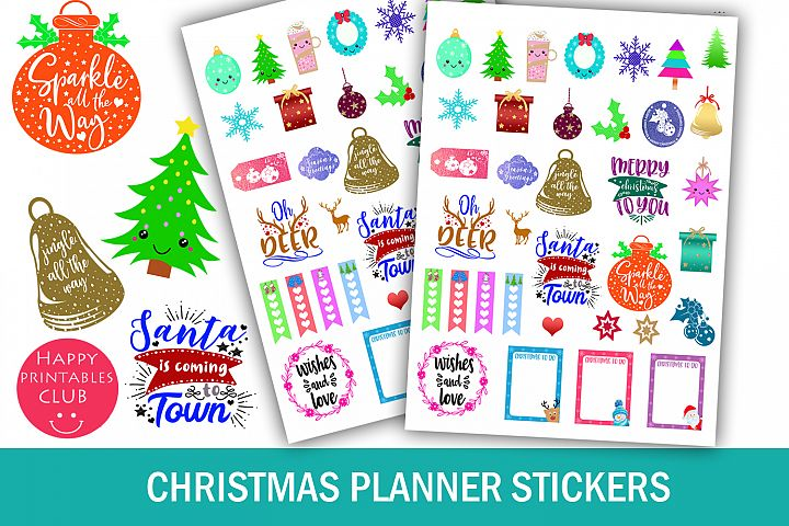 Christmas Planner Stickers-Holiday Planner Stickers