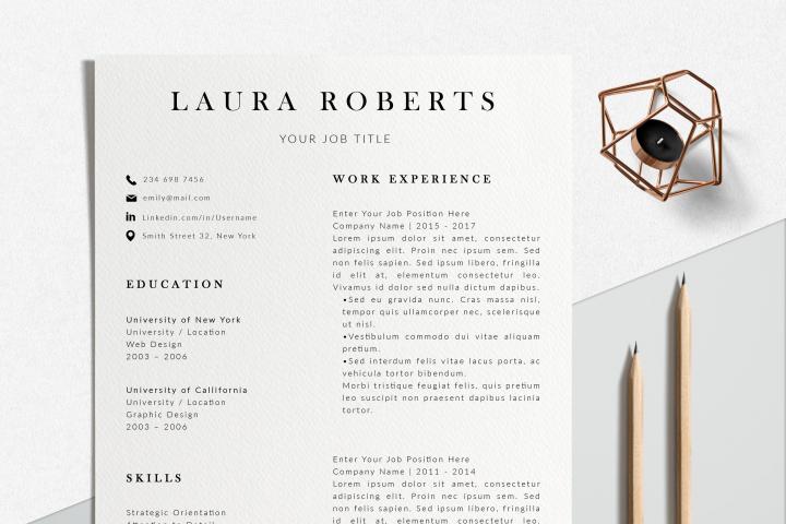 Professional Resume Design   Photoshop Resume Template