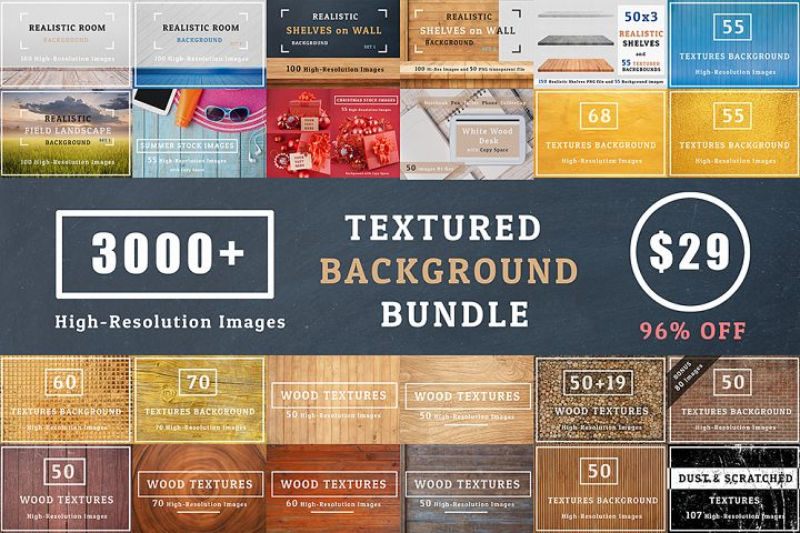 3000+ Textures Background Bundle