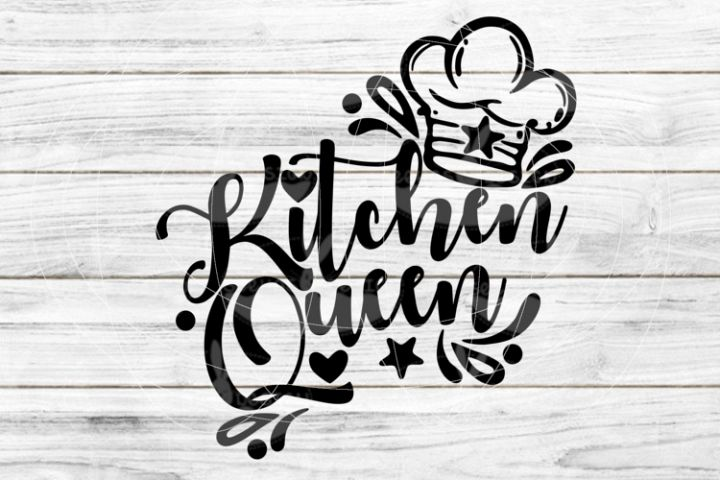 File Kitchen Queen for Cutting Lasercut Print SVG PDF EPS
