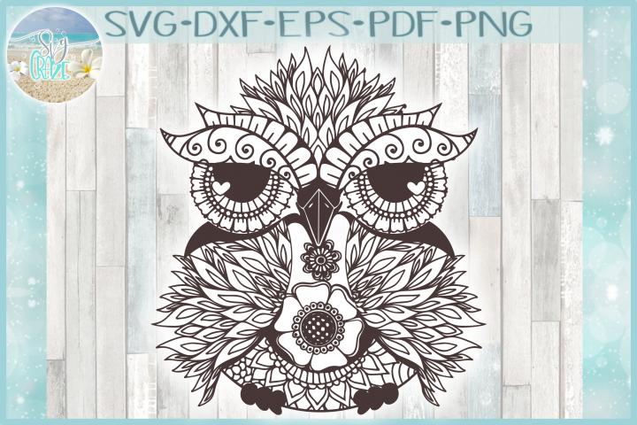 Owl Mandala Zentangle Svg Dxf Eps Png Files For Cricut