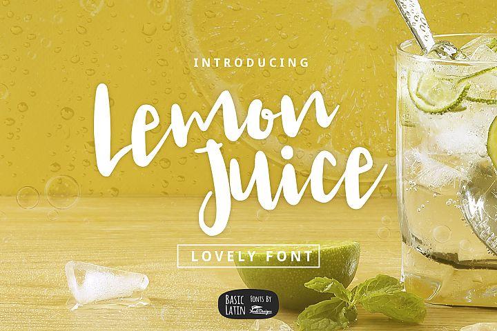 Lemon Juice Script Font