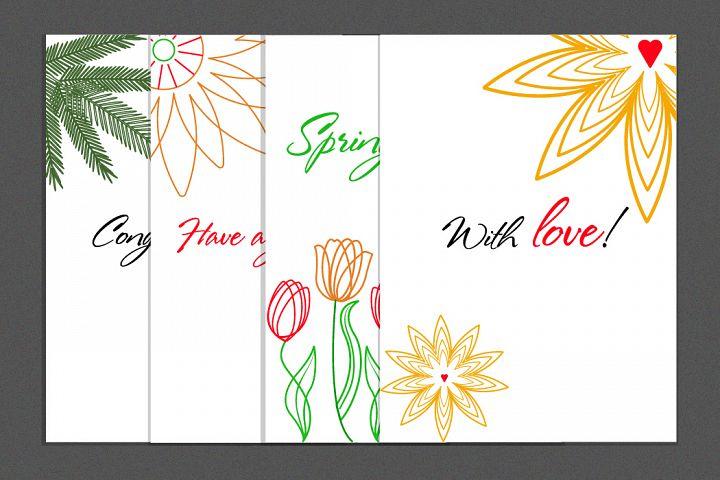 Digital greeting cards - Set