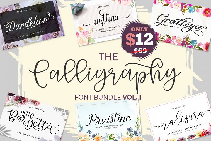 The Calligraphy Font Bundle