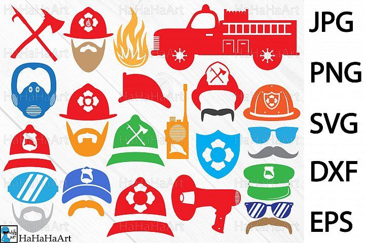 Fireman Monogram Designs - Clip art / Cutting Files - 58c