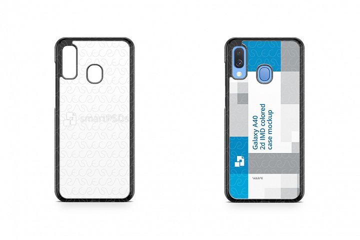 Galaxy A40 2d PC Colored Case Design Mockup 2019