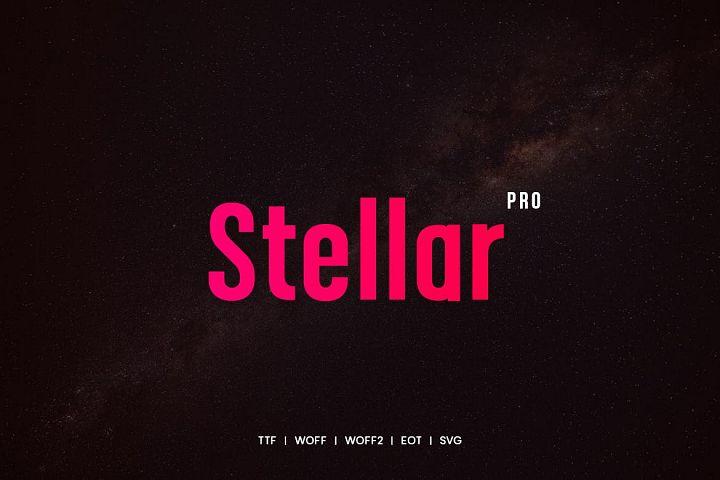 Stellar - Modern Typeface with WebFonts