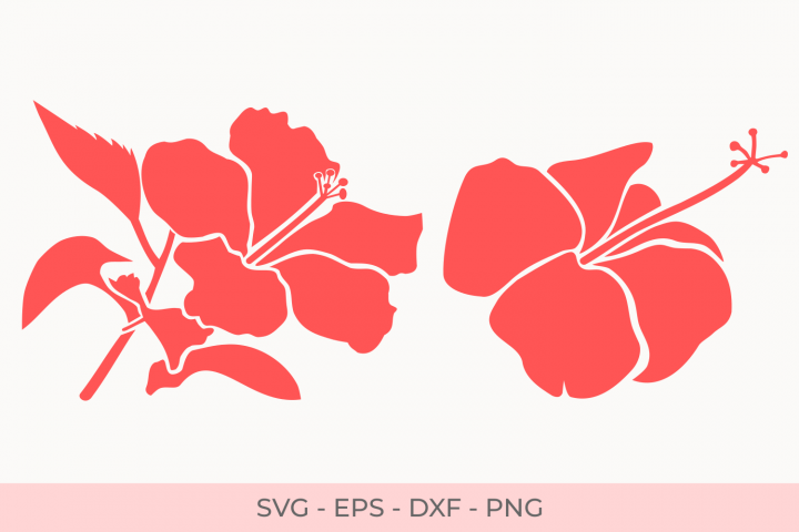 Hibiscus Flowers Svg, Hibiscus Silhouette Florals Svg, Svg Files