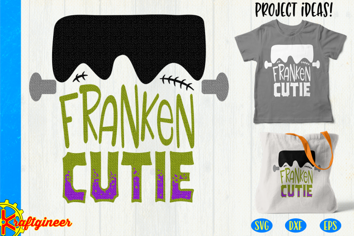 Halloween SVG Franken Cutie Cut File