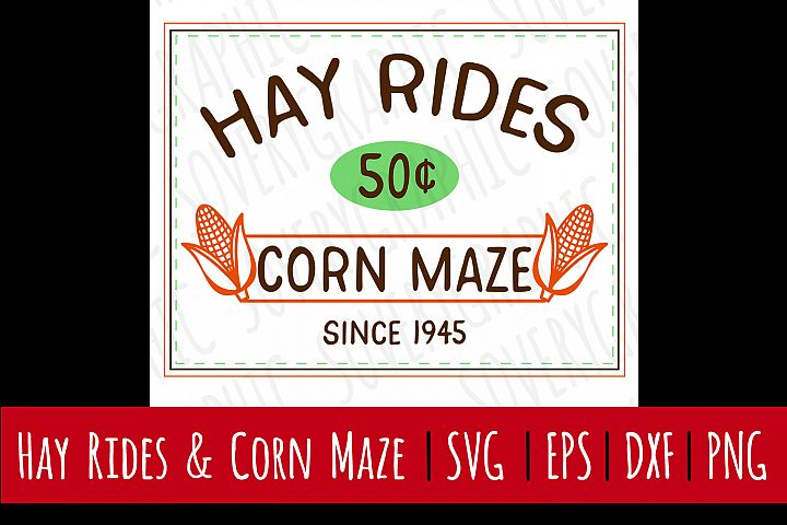 Hay Rides & Corn Maze| SVG | PNG | Printable | Fall | Autumn