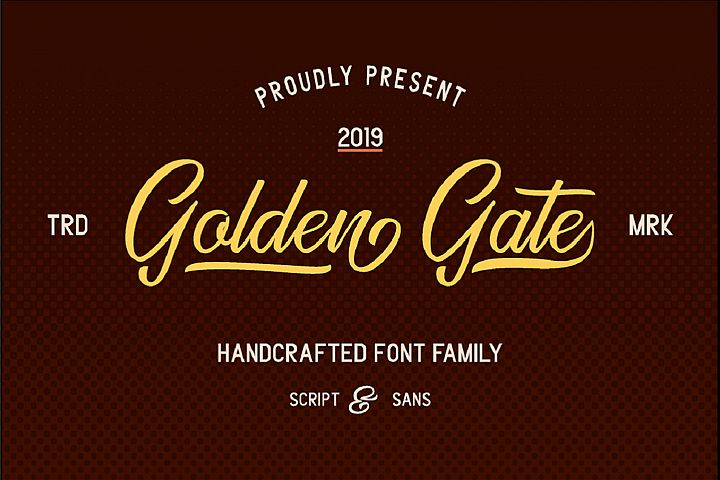 Golden Gate | Handcrafted Font Familyy