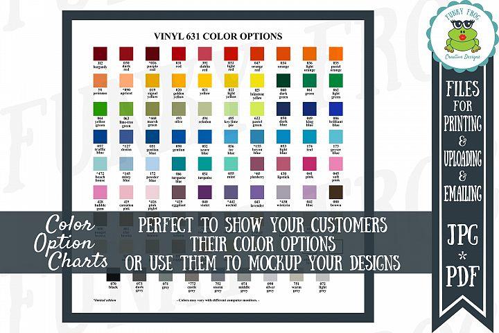 ORACAL 631 Vinyl Color Options Chart - JPG, PDF