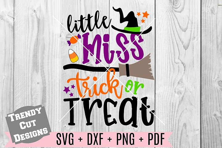 Little Miss Trick or Treat SVG DXF PDF PNG