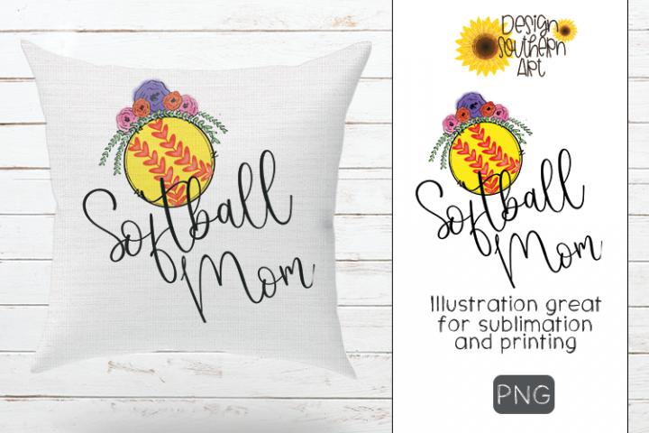 Sublimation Softball Mom Design
