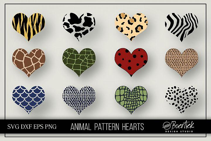 Hearts animal patterns