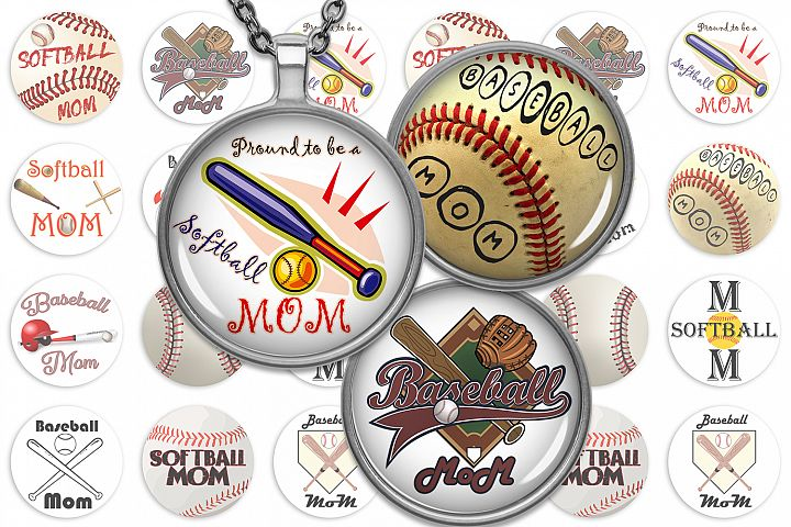 Softball Collage Sheet,Baseball Images,Softball Mom Images