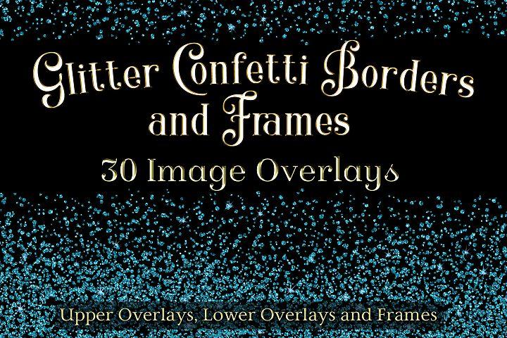 Glitter Confetti Borders and Frames