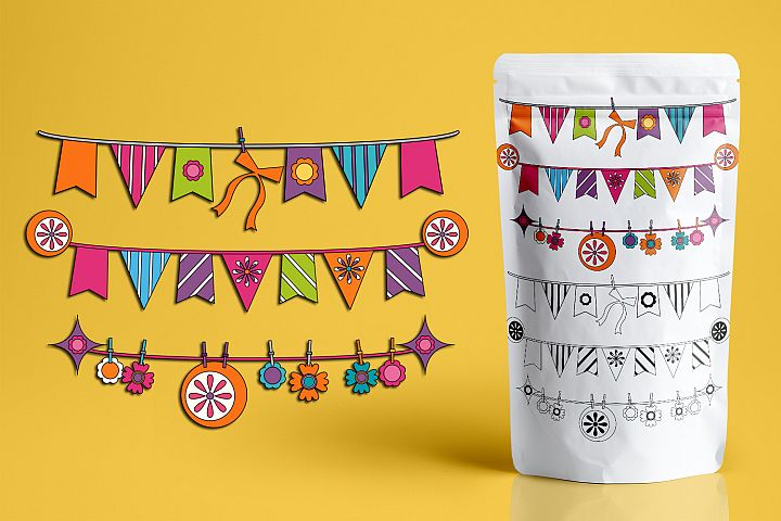 Spring Bunting Pennant Banners Graphics