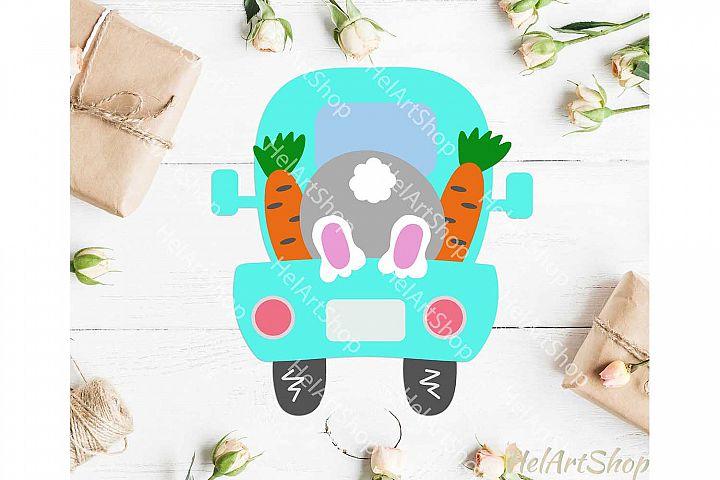 Bunny easter truck svg, Kids easter svg, Easter shirt svg