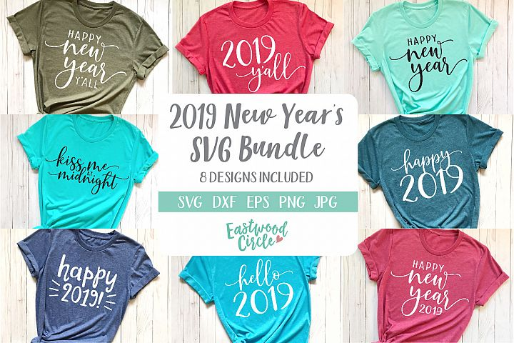 New Years 2019 SVG Cut File Bundle