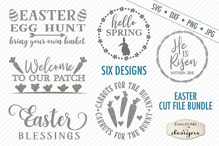 Spring Easter Bundle - Bunny - He is Risen - Easter Eggs SVG