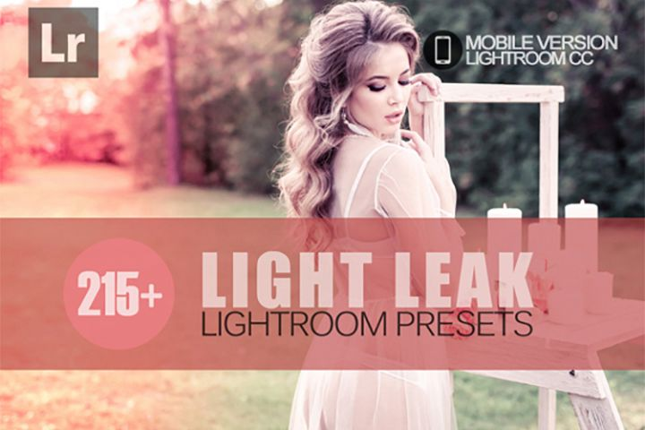 215 Light Leak Lightroom Mobile bundle Presets