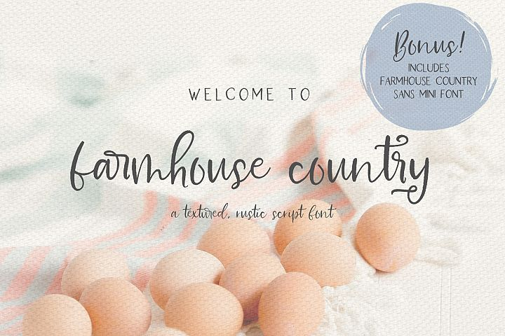 Farmhouse Country Rustic Cursive Font - Free Font of The Week Font