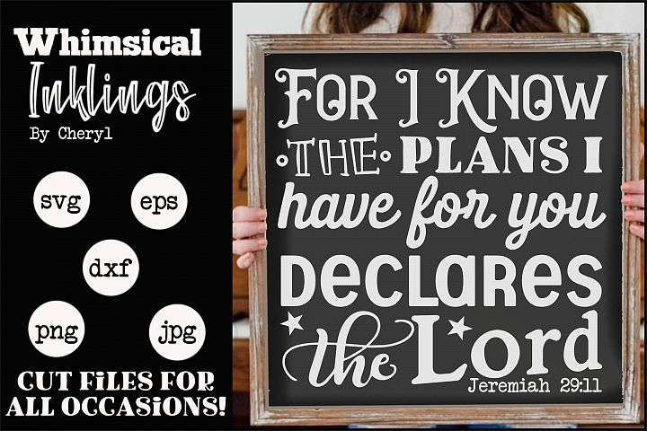 For I Know The Plans SVG