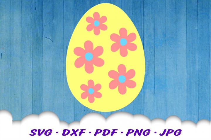 Easter Egg Floral SVG DXF Cut Files