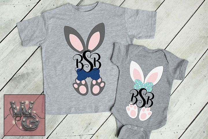 Bunny Ears For Monogram Easter SVG DXF PNG EPS Commercial