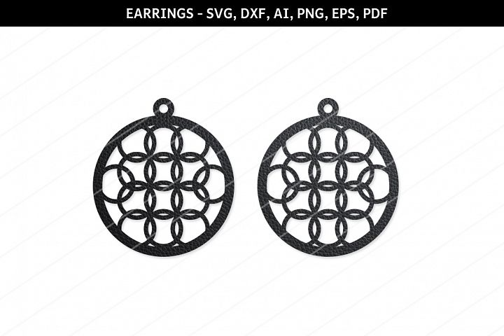 Round Earrings svg, Modern earrings, Jewelry svg,cricut file