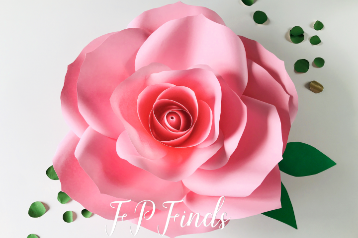 Paper Rose Template SVG PDF PNG DXF EPS