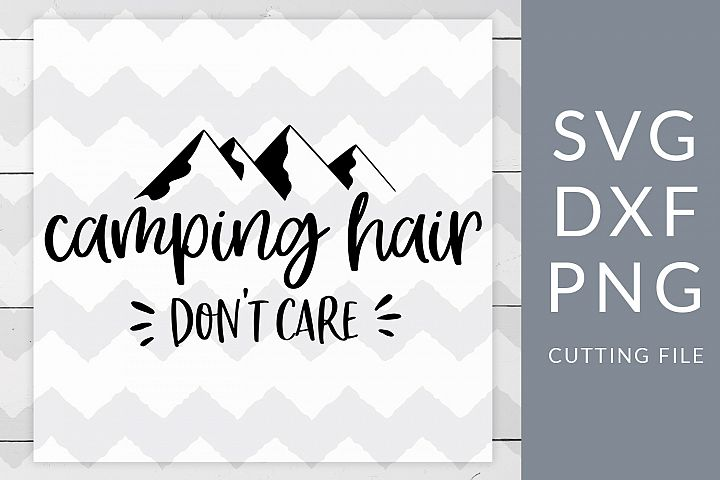 Camping Hair SVG, DXF, PNG, Cut File