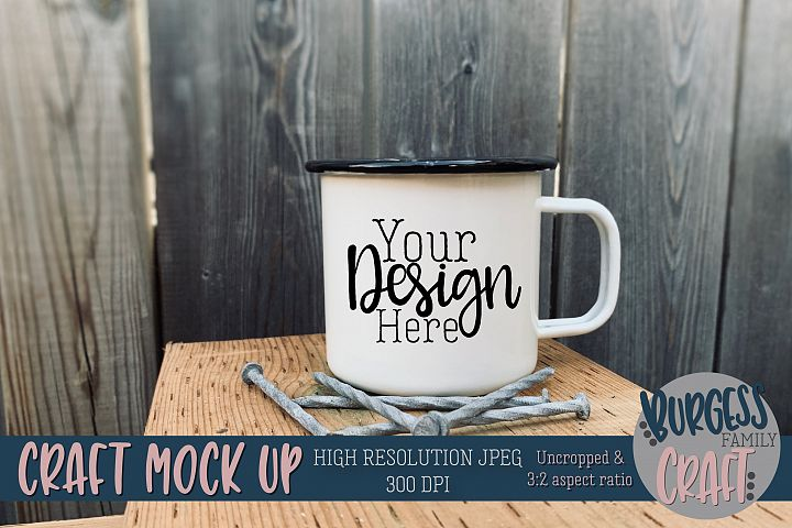 Mug wood Craft mock up|High Resolution JPEG