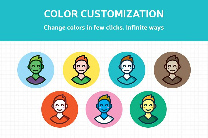 Customizable Outline Icons Set - Free Design of The Week Design 3