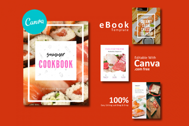 Recipe eBook Template Easy Editable Using Canva Free