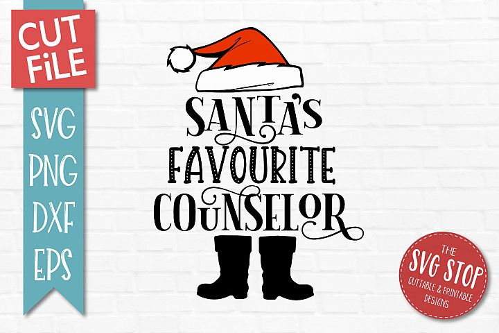 Santas Favourite Counselor SVG, PNG, DXF, EPS