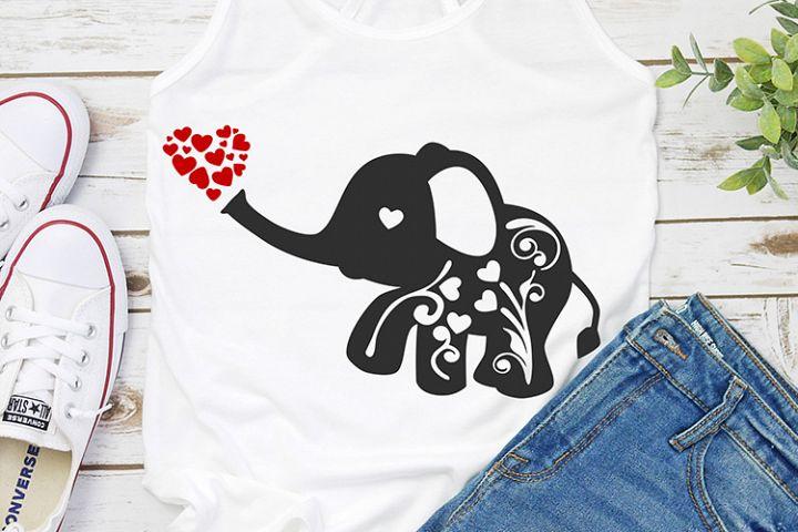 Flourish elephant Valentines day