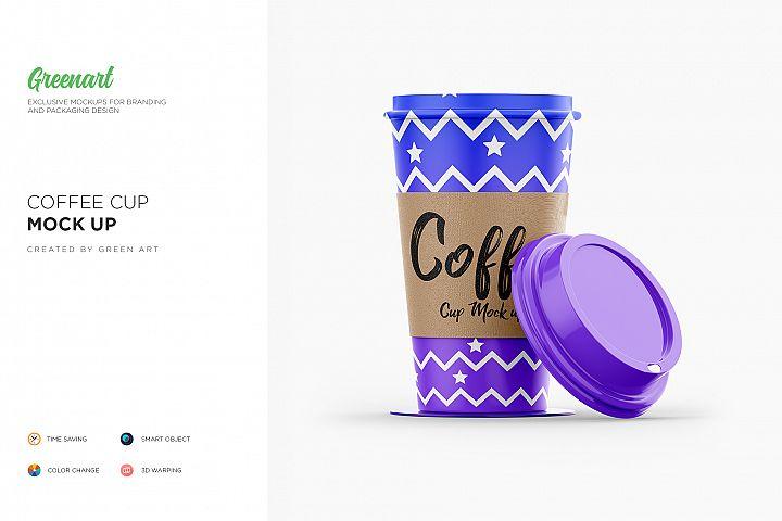 Coffee Cup - 3 PSD Mockup