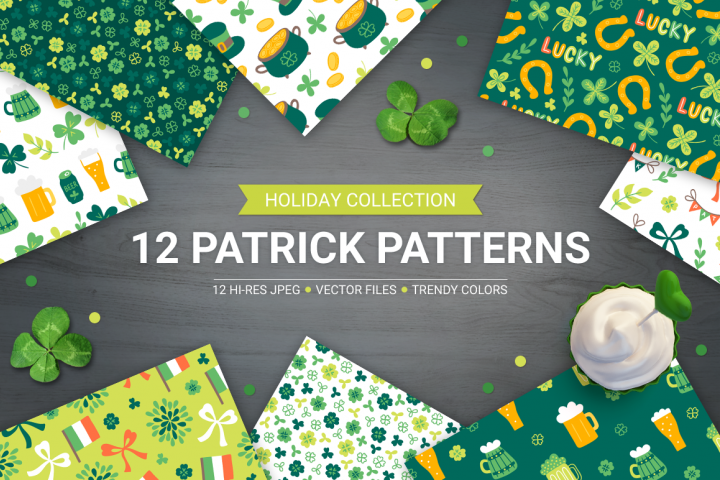 12 St. Patricks Day Patterns