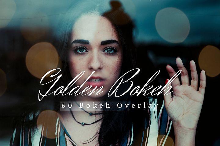 60 Golden Bokeh lights Effect Photo Overlay, Wedding Overlay