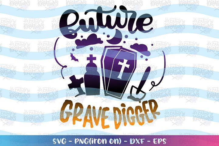 Future Grave Digger svg Casket funny Halloween design