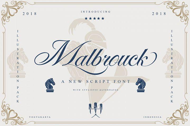 Malbrock Classic Script Font