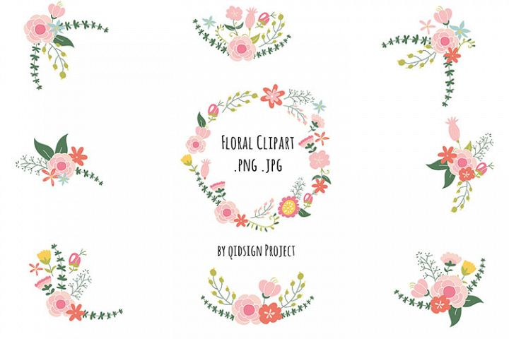 Floral Clipart , Wedding invitation images, Vintage Flower