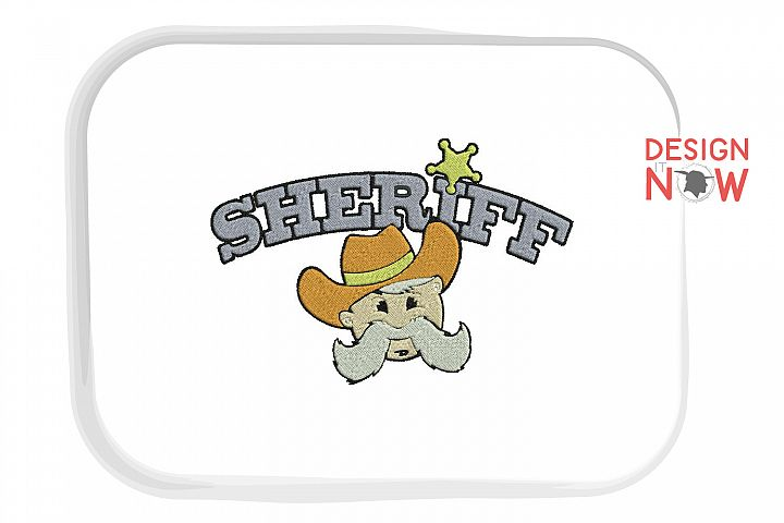 Sherriff Embroidery Pattern, Western Embroidery Design