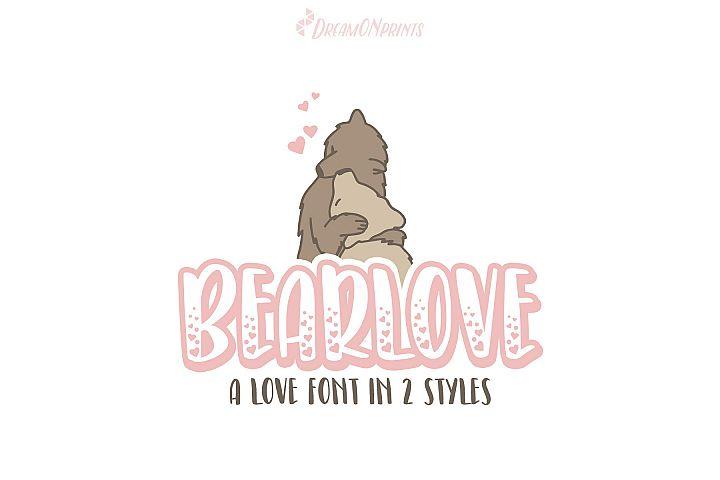 Bearlove - Love Font in 2 Styles